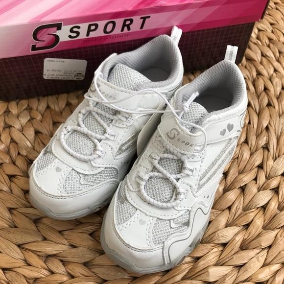 NEW Skechers Sport white light up sneakers girl 9 b2e05c268